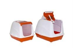 Moderna - Туалет-домик Jumbo с угольным фильтром, 57х44х41см, оранжевый - фото 17214