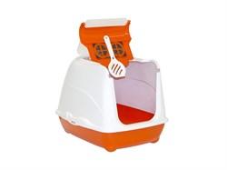 Moderna - Туалет-домик Flip с угольным фильтром, 50х39х37см, оранжевый - фото 17241