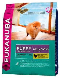 Eukanuba - Сухой корм для щенков миниатюрных пород (курица) Dog Puppy Toy Breed - фото 17341