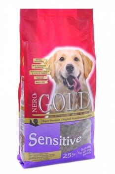 Nero Gold Super Premium - Сухой корм для чувствительных собак (индейка и рис) Adult Sensitive Turkey & Rice - фото 17343