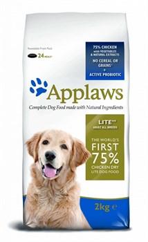 """Applaws - Сухой корм беззерновой для cобак """"Контроль веса"""" (с курицей и овощами) Dry Dog Chicken Light - фото 17352"""
