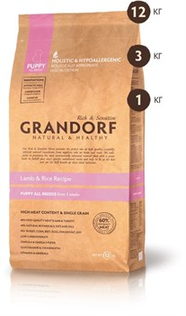 Grandorf - Сухой корм для щенков (ягнёнок с рисом) Puppy All Breed Lamb & Rice Recipe - фото 17355