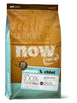 NOW Natural Holistic - Сухой корм беззерновой для щенков крупных пород (с индейкой, уткой и овощами) Fresh Puppy Large Breed Recipe Grain Free - фото 17368