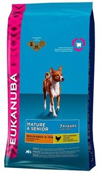 Eukanuba - Сухой корм для зрелых и пожилых собак средних пород (курица) Dog Mature & Senior Medium Breed - фото 17369
