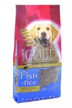 Nero Gold Super Premium - Сухой корм для взрослых собак (рыбный коктейль, рис и овощи) Adult Fish & Rice - фото 17370