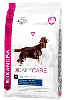 Eukanuba - Сухой корм для собак стерилизованных и склонных к лишнему весу (курица) Daily Care Adult Dog Overweight, Sterilized - фото 17373