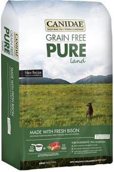 "Canidae - Сухой корм для собак, беззерновая формула ""Чистая земля"" (со свежим мясом бизона и ягнёнка) Grain Free Pure Land with Fresh Bison - фото 17387"