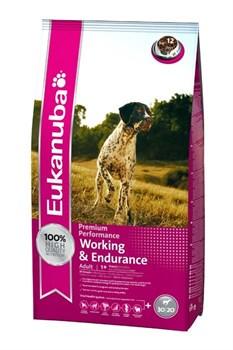 Eukanuba - Сухой корм для энергичных, активных собак при длительных и интенсивных нагрузках (курица) Dog Adult Working & Endurance - фото 17396