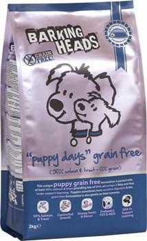 """Barking Heads - Сухой корм беззерновой для щенков """"Щенячьи деньки"""" (с лососем и бататом) Grain-Free Puppy Days - фото 17407"""