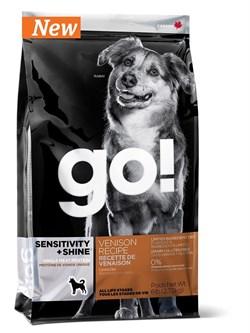 GO! Natural Holistic - Сухой корм беззерновой для щенков и собак для чувствительного пищеварения (со свежей олениной) Sensitivity + Shine Venison Recipe - фото 17425