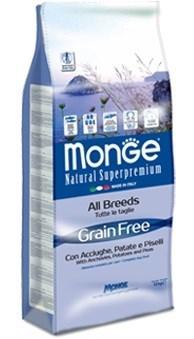 Monge - Сухой корм беззерновой для собак всех пород (анчоусы с картофелем и горохом) Dog Grain Free - фото 17432