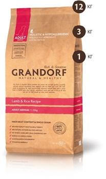 Grandorf - Сухой корм для средних пород (ягнёнок с рисом) Adult Medium Lamb & Rice Recipe - фото 17439