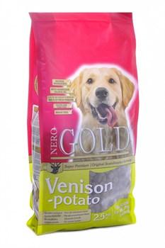 Nero Gold Super Premium - Сухой корм для взрослых собак (c олениной и сладким картофелем) Adult Venison & Potato - фото 17444