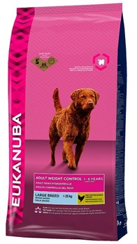 Eukanuba - Сухой корм для собак крупных пород для контроля веса (курица) Dog Adult Weight Control Large Breed - фото 17460