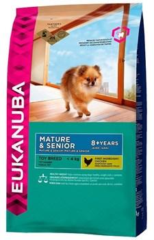 Eukanuba - Сухой корм для зрелых и пожилых собак миниатюрных пород (курица) Dog Mature & Senior Toy Breed - фото 17461