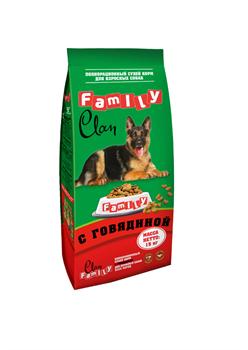 Clan Family - Cухой корм для собак всех пород (говядина) - фото 17490