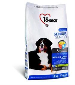 1St Choice - Сухой корм для пожилых собак средних и крупных пород (курица) - фото 17515