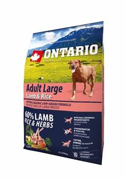 Ontario - Сухой корм для собак крупных пород (с ягненком, индейкой и рисом) Adult Large Lamb, Turkey & Rice - фото 17650