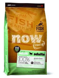 NOW Natural Holistic - Сухой корм беззерновой для взрослых собак малых пород (с форелью, лососем и овощами) Fresh Small Breed Recipe Fish Grain Free - фото 17835