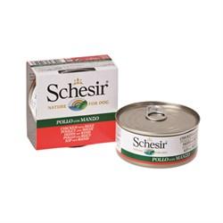 Schesir - Консервы для собак (филе цыплёнка с говядиной) - фото 18273