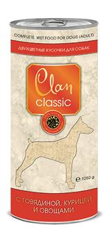 Clan Classic - Консервы для собак (кусочки в соусе с говядиной, курицей и овощами) - фото 18288