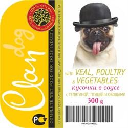 Clan - Консервы для собак (кусочки в соусе с телятиной, птицей и овощами) - фото 18300