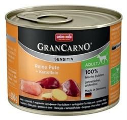 Animonda - Консервы для чувствительных собак (c индейкой и картофелем) GranCarno Sensitiv - фото 18343