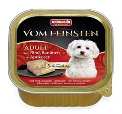 """Animonda - Консервы для собак """"Меню для гурманов"""" (с говядиной, бананом и абрикосами) Vom Feinsten Adult - фото 18378"""