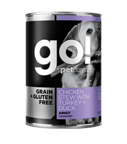 GO! Natural Holistic - Консервы беззерновые для собак (с тушеной курицей, индейкой и мясом утки) Grain Free Chicken Stew with Turkey + Duck - фото 18482