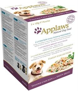 """Applaws - Набор паучей в желе для собак """"Великолепие вкусов"""" Dog Jelly Pouch Finest Selection - фото 18552"""