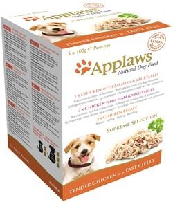 """Applaws - Набор паучей в желе для собак """"Коллекция вкусов"""" Dog Jelly Pouch Supreme Selection - фото 18553"""