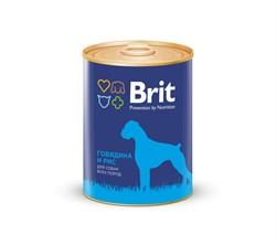 Brit - Консервы для собак (с говядиной и рисом) Premium BEEF&RICE - фото 18650