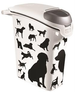 """Curver PetLife - Контейнер для корма """"Собаки"""", черно-белый, на 10кг/23л, 23*50*50см - фото 18772"""