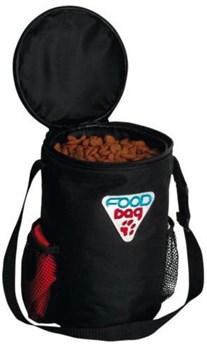 "Trixie - Контейнер сумка с миской для корма ""Дорожный набор"" (нейлон) Food Bag Travel Set - фото 18774"