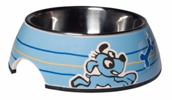 Rogz - Миска для щенков 2 в 1 (голубой) 350 мл BUBBLE BOWLZ MEDIUM - фото 18880