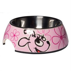 Rogz - Миска для щенков 2 в 1 (розовый) 350 мл BUBBLE BOWLZ MEDIUM - фото 18882