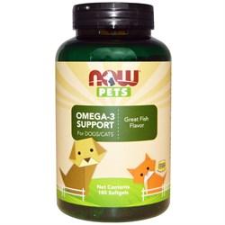 Now Foods, Now Pets - Витамины для собак и кошек Омега-3 с рыбным вкусом (желатиновые капсулы) - фото 18898