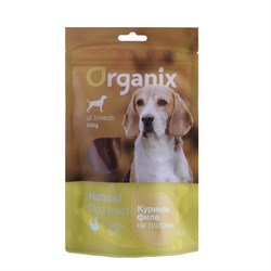 "Organix - Лакомство для собак ""Куриное филе на палочке"" (100% мясо) Chicken fillet/ bleached twist stick - фото 18914"