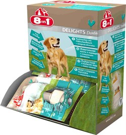 8in1 - Косточки с куриным мясом для мелких собак с минералами DENTAL DELIGHTS XS (коробка) - фото 18957