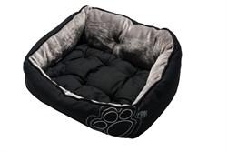 "Rogz - Мягкий лежак с двусторонней подушкой ""Черная лапка"", размер S (52х38х25см) LUNA PODZ - фото 19194"