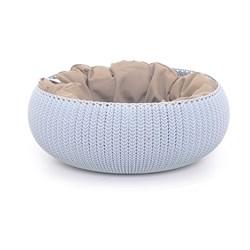 """Curver PetLife - Лежак для животных """"Вязаный комфорт"""" с подушкой, 54*20,2 см, дымчато-голубой - фото 19221"""