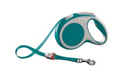 Flexi - Рулетка-ремень для собак, размер M - 5 м до 25 кг (бирюзовая) Vario tape turquoise - фото 20074