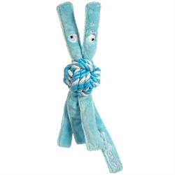 Rogz - Игрушка для щенков канатная с пищалкой, малая (голубой) COWBOYZ ROPE TOY - фото 20269