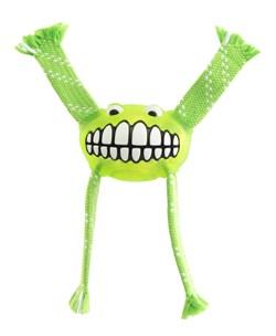 Rogz - Игрушка с принтом зубы и пищалкой, средняя (лайм) FLOSSY GRINZ ORALCARE TOY - фото 20308