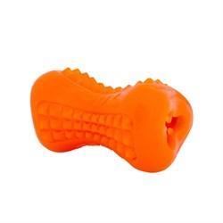 Rogz - Кость из резины с массажными насечками, большая (оранжевый) YUMZ TREAT TOY LARGE - фото 20346
