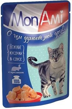 MonAmi - Паучи для кошек (нежные кусочки с кроликом) - фото 20718