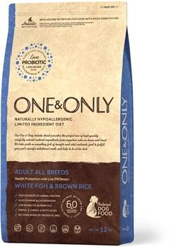 One&Only – Сухой корм для собак всех пород (белая рыба с бурым рисом) White Fish&Rice All Breeds - фото 20811