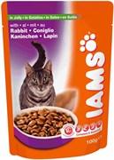 Iams - Паучи для взрослых кошек (с кроликом в желе) Cat Pouch