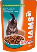 Iams - Паучи для взрослых кошек (с тунцом в желе) Cat Pouch