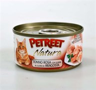 Petreet - Консервы для кошек (кусочки розового тунца с лобстером) Natura